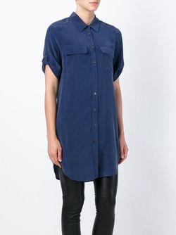Длинная Рубашка С Короткими Рукавами Equipment                                                                                                              синий цвет
