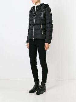 Дутая Куртка С Капюшоном Moncler                                                                                                              черный цвет
