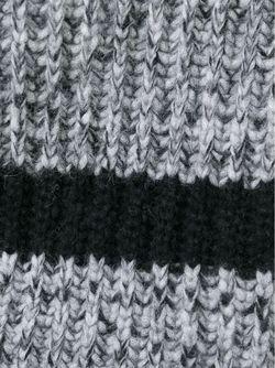 Свитер Крупной Вязки С Отворотной Горловиной Rochas                                                                                                              серый цвет