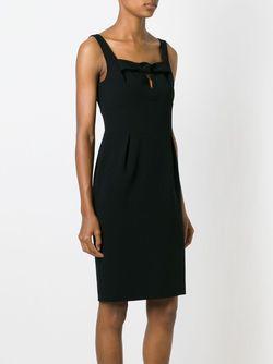 Приталенное Платье С Бантом BOUTIQUE MOSCHINO                                                                                                              черный цвет