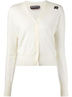 Кардиган С V-Образным Вырезом Rochas                                                                                                              белый цвет