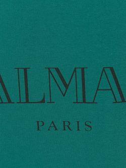 Футболка С Принтом Логотипа Balmain                                                                                                              синий цвет