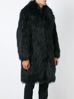 Меховое Пальто Ktz                                                                                                              чёрный цвет