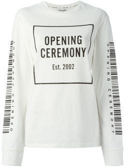 Толстовка С Принтом Логотипа Opening Ceremony                                                                                                              белый цвет