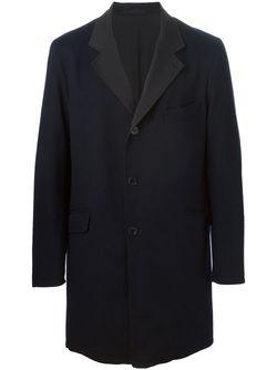 Однобортное Пальто Пальто Loro Piana                                                                                                              синий цвет