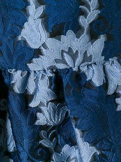 Жаккардовый Топ С Баской P.A.R.O.S.H.                                                                                                              синий цвет