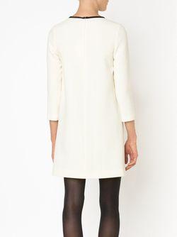 Платье-Шифт С Контрастной Окантовкой Bouchra Jarrar                                                                                                              белый цвет