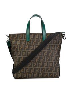 Сумка-Тоут С Узором В Логотипы Ff Fendi                                                                                                              коричневый цвет