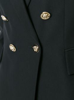 Двубортный Блейзер Versace                                                                                                              черный цвет