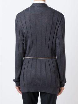 Кардиган C V-Образным Вырезом Brunello Cucinelli                                                                                                              серый цвет