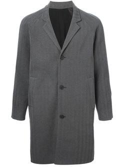 Пальто В Елочку Christopher Kane                                                                                                              серый цвет