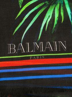 Шарф С Цветочным Принтом Balmain                                                                                                              черный цвет
