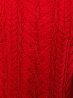 Свитер С Круглым Вырезом Balmain                                                                                                              красный цвет
