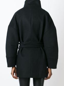 Двубортное Полупальто Balmain                                                                                                              черный цвет