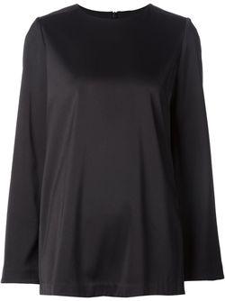Блузка С Баской Сзади Co                                                                                                              чёрный цвет