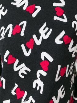 Свитер С Принтом Love Love Moschino                                                                                                              черный цвет