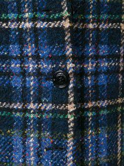 Однобортное Пальто В Клетку Love Moschino                                                                                                              синий цвет