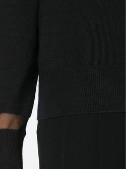 Топ С Высоким Воротником И Прозрачными Панелями Lanvin                                                                                                              черный цвет