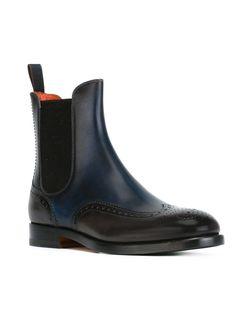 Ботинки С Эластичными Панелями Santoni                                                                                                              синий цвет