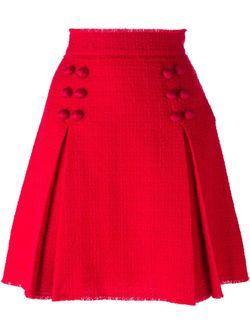 Короткая Юбка Со Складками Dolce & Gabbana                                                                                                              красный цвет
