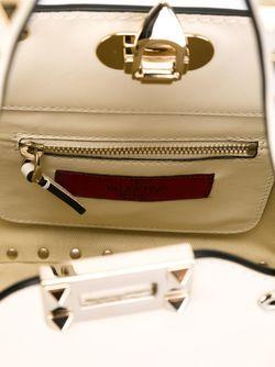Сумка-Тоут Rockstud В Форме Трапеции Valentino Garavani                                                                                                              белый цвет