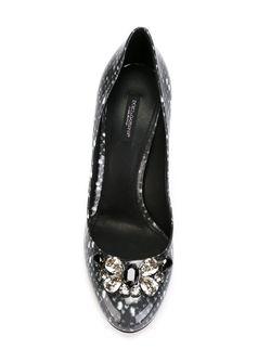 Декорированные Лодочки Dolce & Gabbana                                                                                                              серый цвет