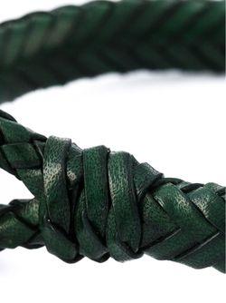 Плетеный Браслет Alexander McQueen                                                                                                              зелёный цвет