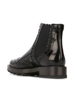 Ботинки С Эластичными Вставками Tod'S                                                                                                              черный цвет