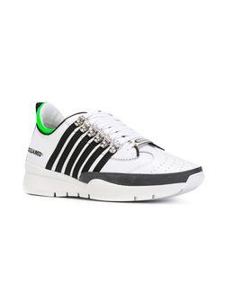Кроссовки С Контрастными Полосками Dsquared2                                                                                                              белый цвет