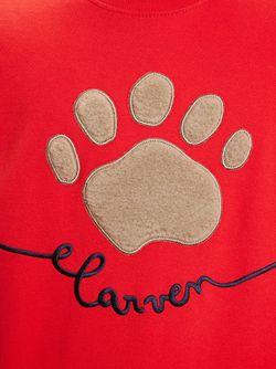 Толстовка С Нашивкой В Виде Отпечатка Лапы Carven                                                                                                              красный цвет