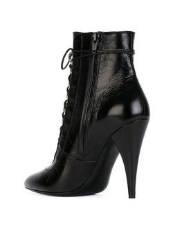 Ботильоны На Шнуровке Saint Laurent                                                                                                              черный цвет