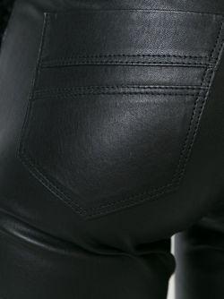 Кожаные Брюки Кроя Скинни Sylvie Schimmel                                                                                                              черный цвет