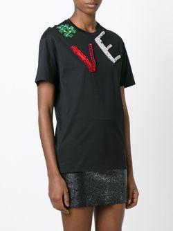 Футболка С Аппликацией Логотипа Versace                                                                                                              черный цвет