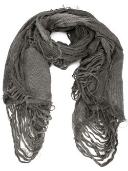 Raw Edge Scarf Forme D'Expression                                                                                                              серый цвет