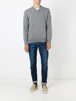 Свитер C V-Образным Вырезом Paul Smith Jeans                                                                                                              серый цвет