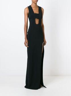 Платье В Глубоким Вырезом David Koma                                                                                                              чёрный цвет