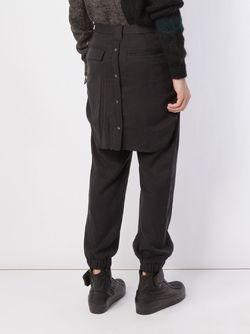 Брюки С Рубашкой На Поясе MIHARA YASUHIRO                                                                                                              чёрный цвет