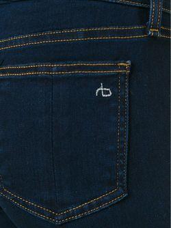 Расклешенные Джинсы Rivington Rag & Bone                                                                                                              синий цвет