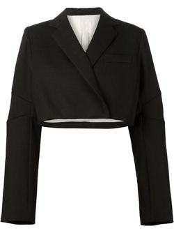 Укороченный Двубортный Блейзер Vera Wang                                                                                                              чёрный цвет