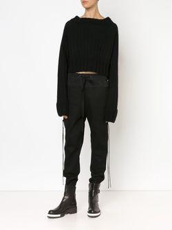 Corset Detail Track Pants Vera Wang                                                                                                              чёрный цвет