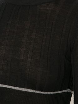 Cropped Ribbed Sweater Vera Wang                                                                                                              черный цвет