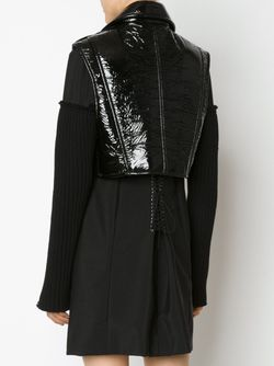 Sleeveless Vinyl Biker Jacket Vera Wang                                                                                                              чёрный цвет