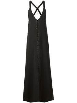 Plunging V-Neck Evening Dress Vera Wang                                                                                                              черный цвет