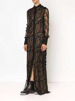 Sheer Lace Gown Vera Wang                                                                                                              чёрный цвет