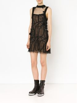 Lace Shift Dress Vera Wang                                                                                                              черный цвет