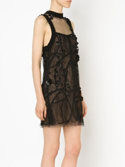 Lace Shift Dress Vera Wang                                                                                                              чёрный цвет