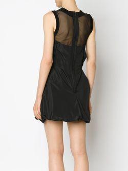 Tulle Yoke Draped Dress Vera Wang                                                                                                              чёрный цвет