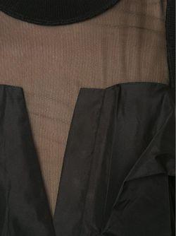 Tulle Yoke Draped Dress Vera Wang                                                                                                              черный цвет