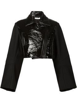 Байкерская Куртка С Виниловой Панелью Vera Wang                                                                                                              чёрный цвет