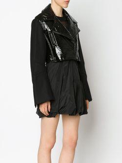 Байкерская Куртка С Виниловой Панелью Vera Wang                                                                                                              черный цвет